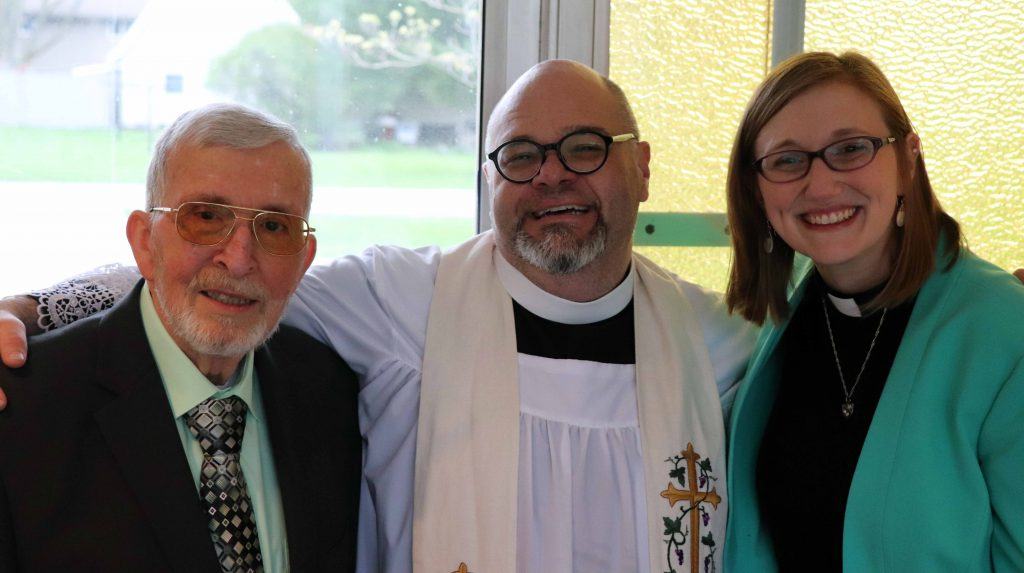 Reverend Jerry Frazee, Waldo United Methodist Church; Reverend Joel Fetter, Peace Community Church of Christ; Reverend Sarah Schaaf, St. Paul's Lutheran Church