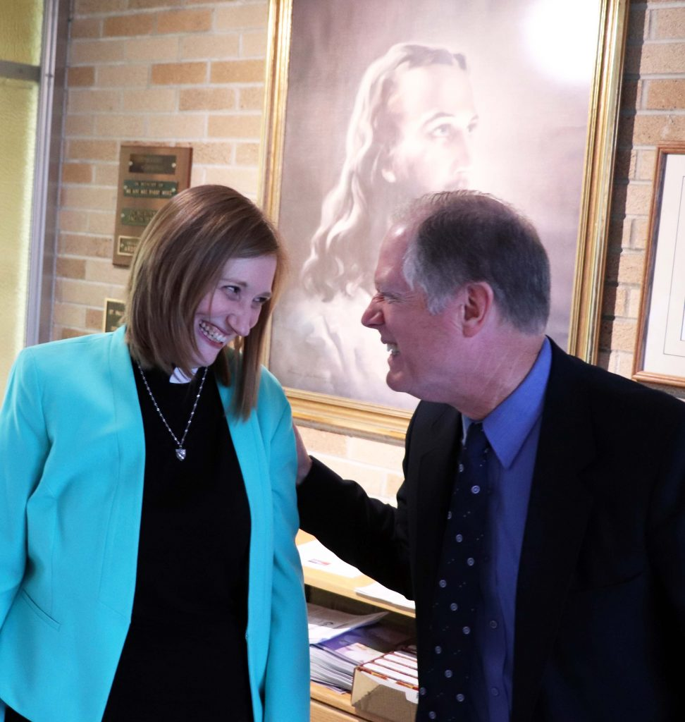 Pastor Sarah Schaaf and Gary Crawford
